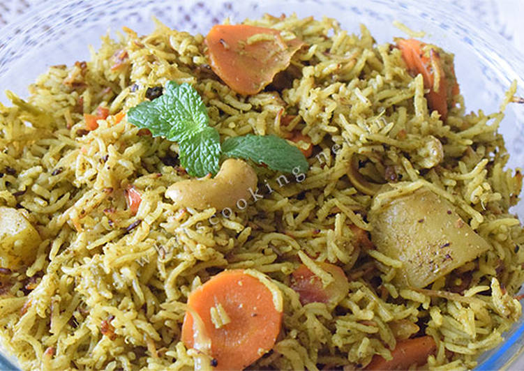 Absolutely Ultimate Dinner Ideas Special Mint rice (pudina chawal)