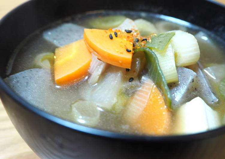 Dinner Ideas Japanese Vegan Soup (Kenchinjiru)