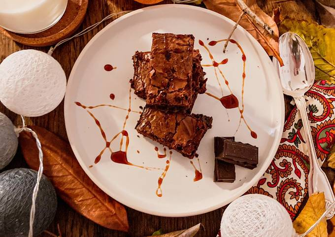 Brownie cœur confiture de lait choco-noisette