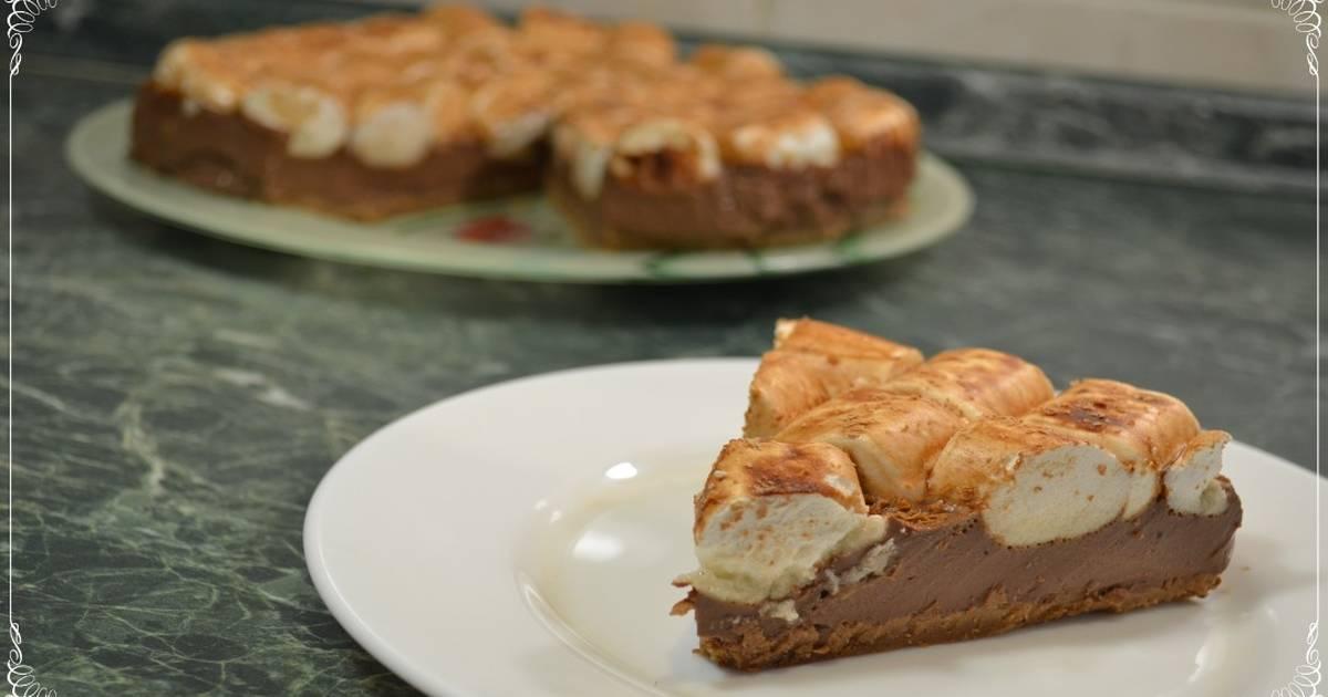 Шоколадный торт с маршмеллоу (без выпечки) - пошаговый рецепт с ...