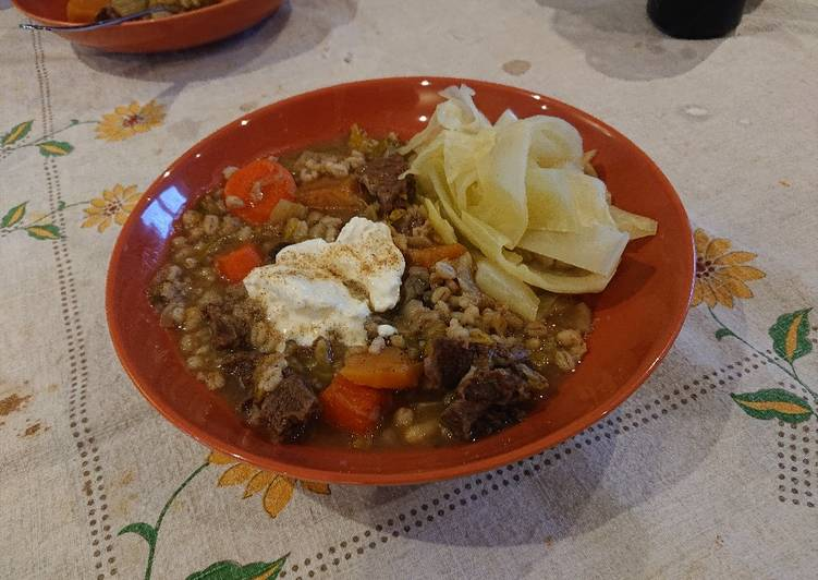 Easiest Way to Make Homemade Ox Cheek and Vegetable Soup