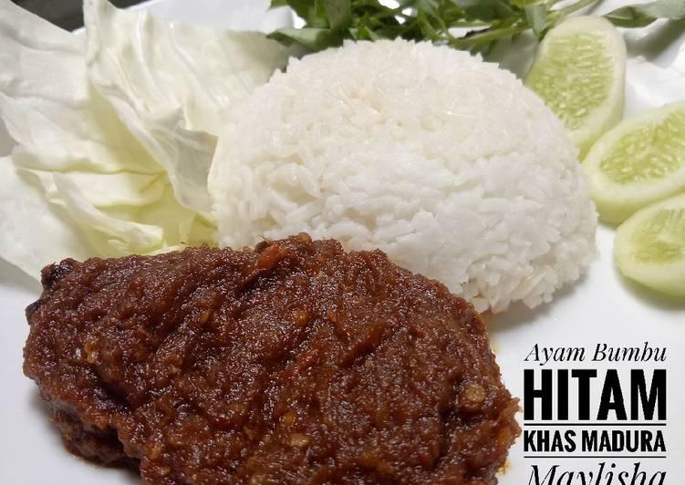 Resep Ayam Bumbu Hitam Khas Madura oleh Maylisha - Cookpad