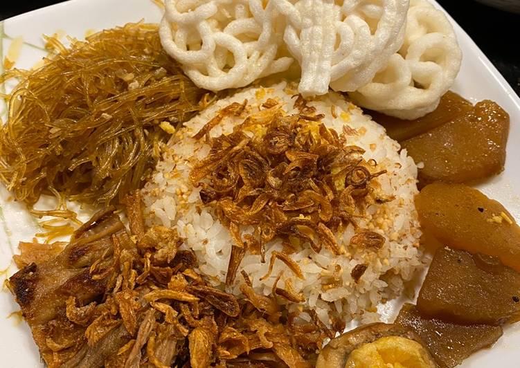 Nasi ulam tanpa kelapa