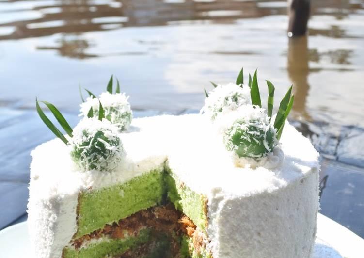 Resep Klepon cake kekinian by IRA