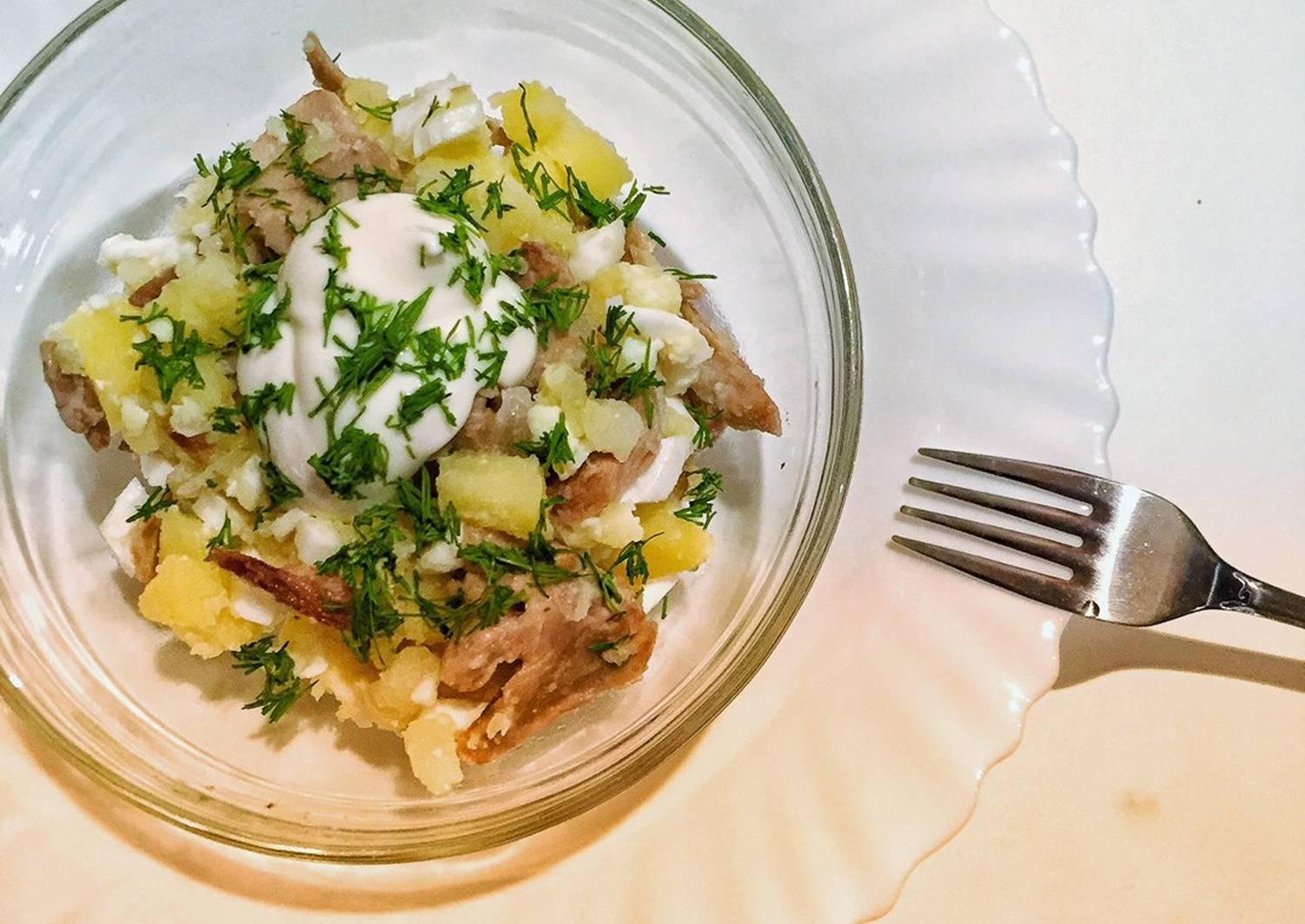 салат из картофеля рецепт с фото что назвали просто