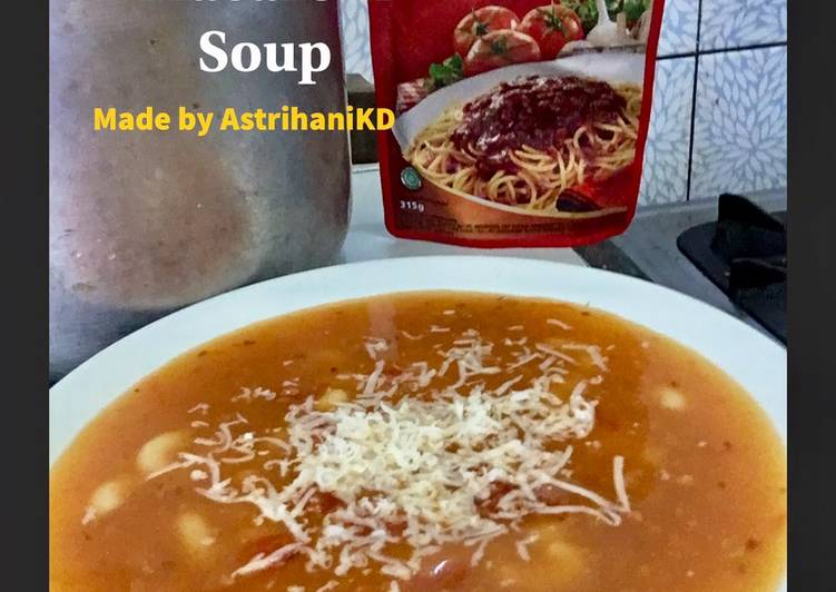59. Bolognaise Macaroni Soup