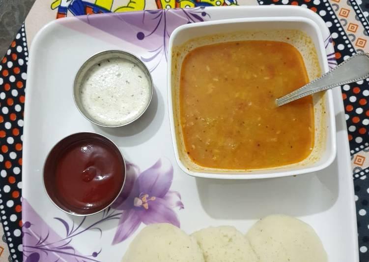 Recipe of Homemade Sambar idli