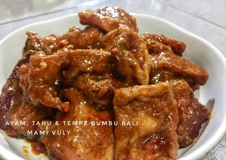 Ayam, Tahu & Tempe Bumbu Bali