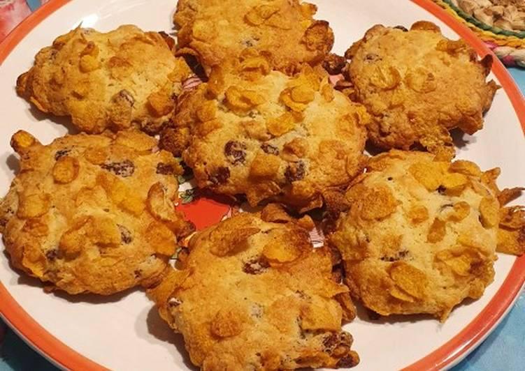 Ricetta Biscotti cornflakes e uvetta