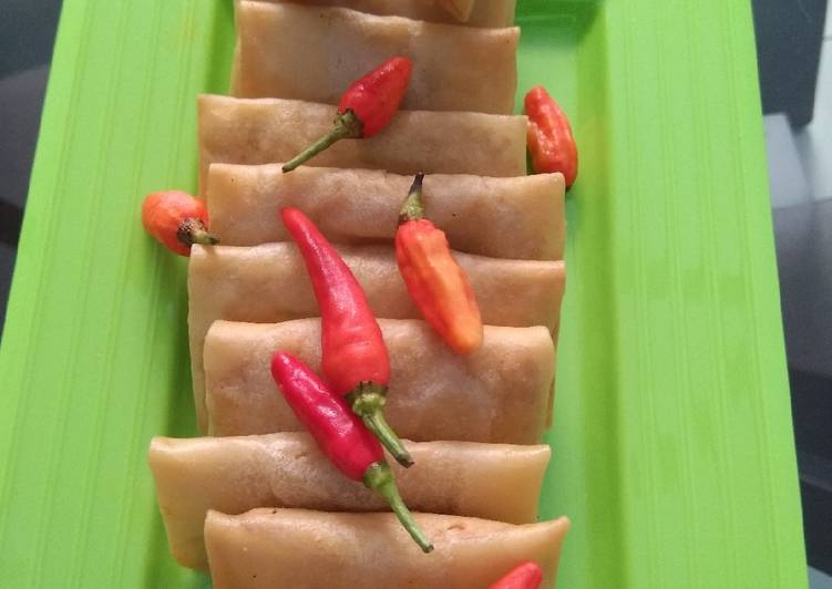 Martabak tahu kulit lumpia simple