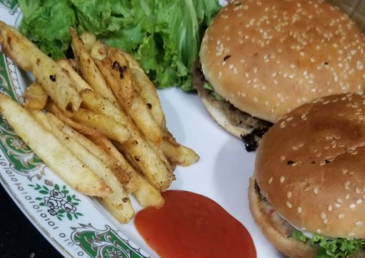 Steps to Prepare Super Quick Homemade Burger