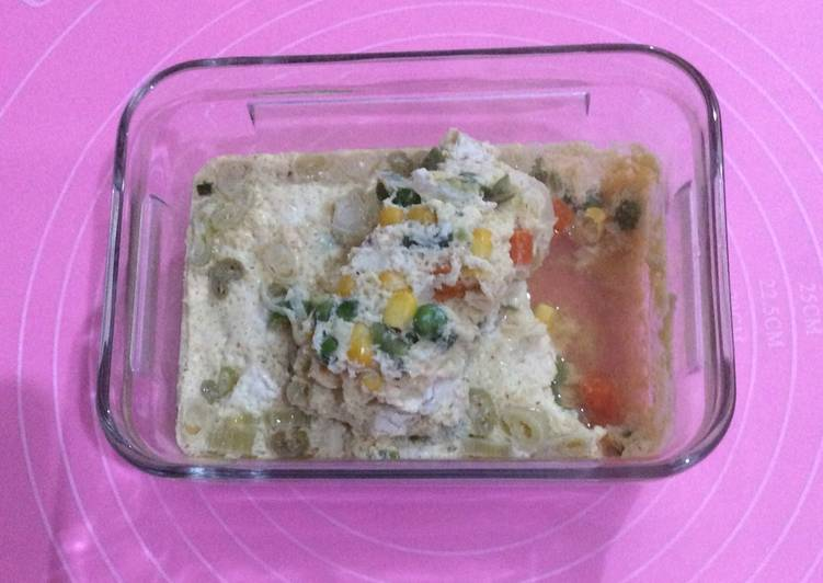 Resep Tahu telur tim sayuran #berburucelemekemas #resolusi2019, Lezat Sekali