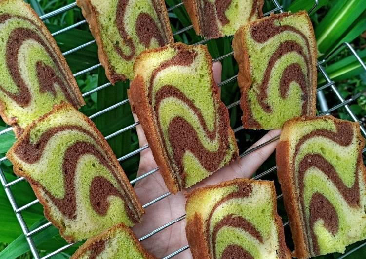 Marble Cake (pandan coklat) - cookandrecipe.com