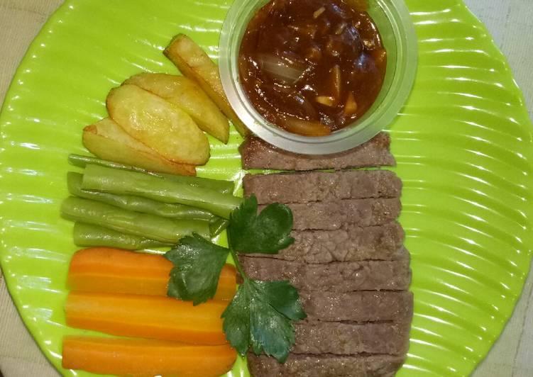 Steak Daging Sapi Homemade#BancakanOnlineBarengCookpad#ebook