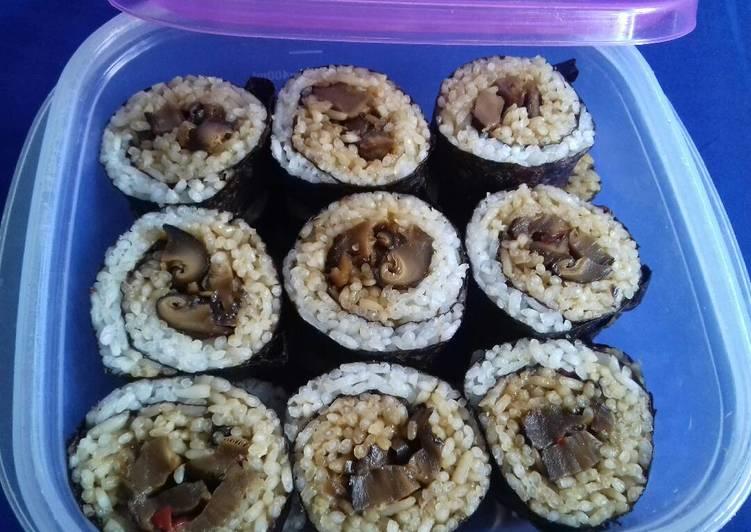 Shiitake rolls