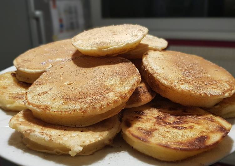 Recette Délicieux 34• 🥞 Pancakes aux pommes express façon Apfelkiechle 🍎