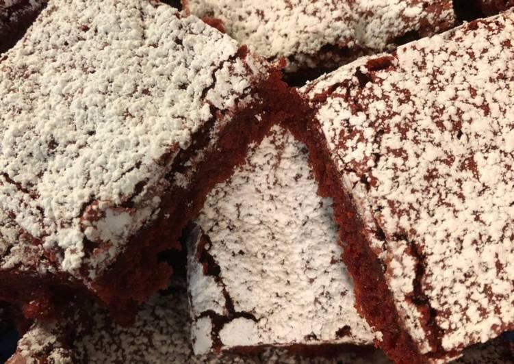 Red Velvet Mocha Brownies