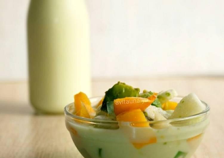 Soup Buah Kuah Yogurt