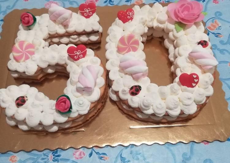 Number Cake di frolla Sable ' e camy cream