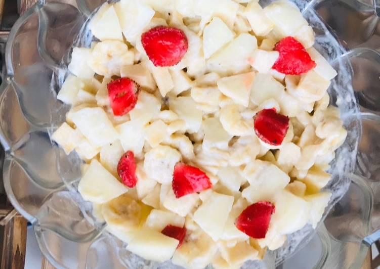 Recipe of Top-Rated Creamè fruit salad