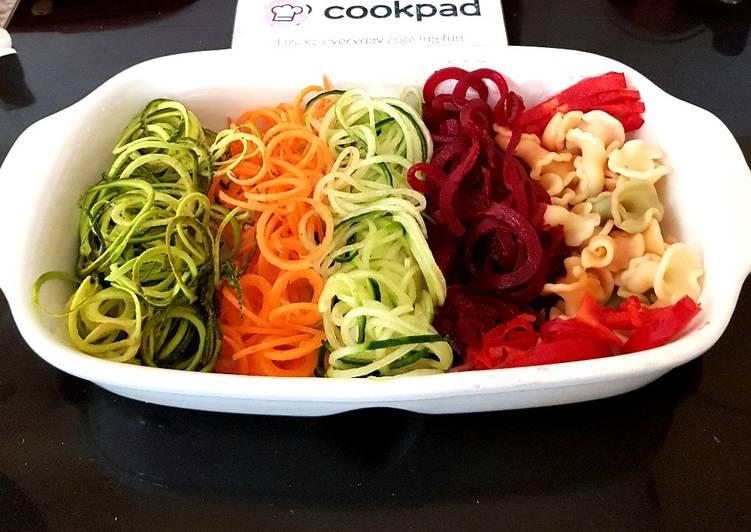 Recipe of Homemade My Spiral veg & Pasta Salad. 😉