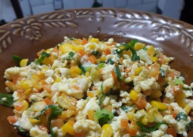 017. Orak-arik telur jagung & wortel