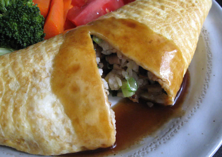 Steps to Make Any-night-of-the-week Oyster Sauce Omu-rice (Omelette Rice)