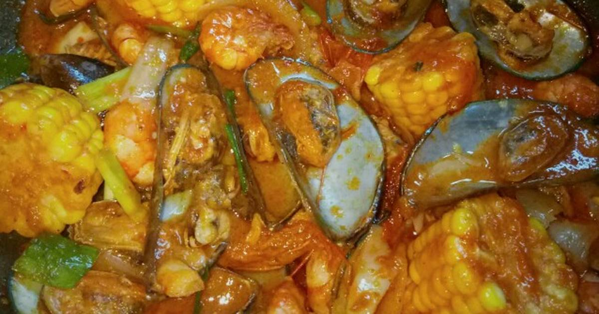Resep Kerang Seafood Saus Padang Ala Resto Kekinian Oleh Valmai