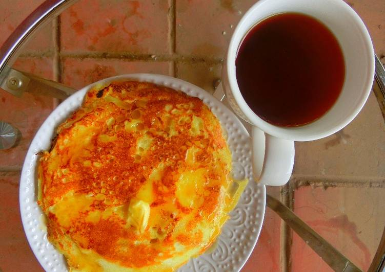 Recipe of Speedy Pancake, butter and hot tea