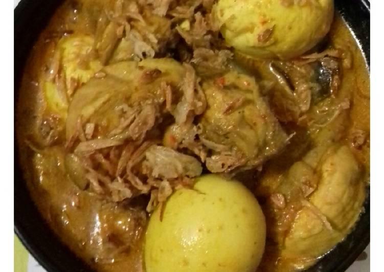 Cara Mudah Membuat Gulai ayam dan telur Anti Gagal