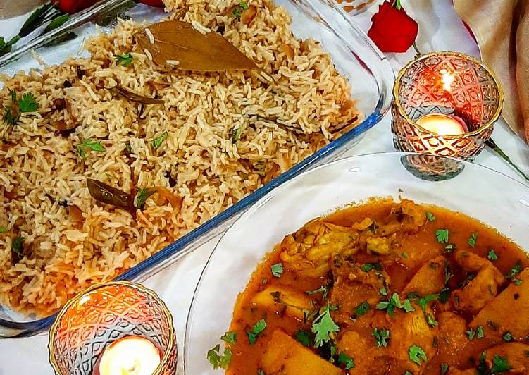 Chicken Shorba with Zeera rice