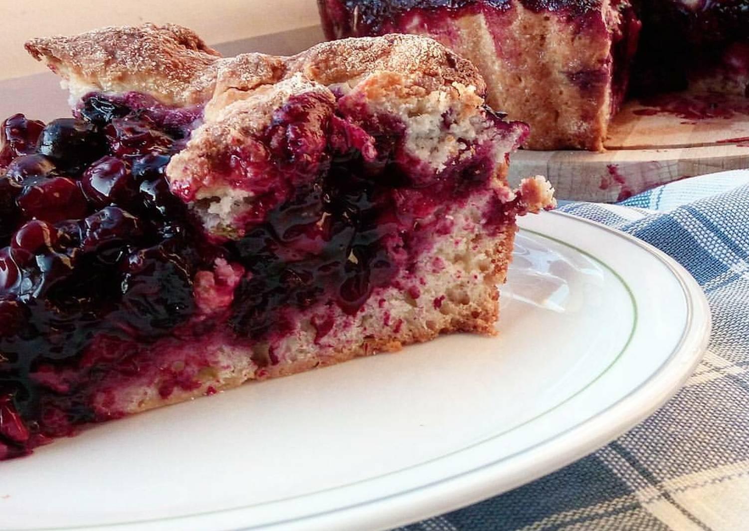 это просто вишневый пирог рецепт с фото пошагово несчастье