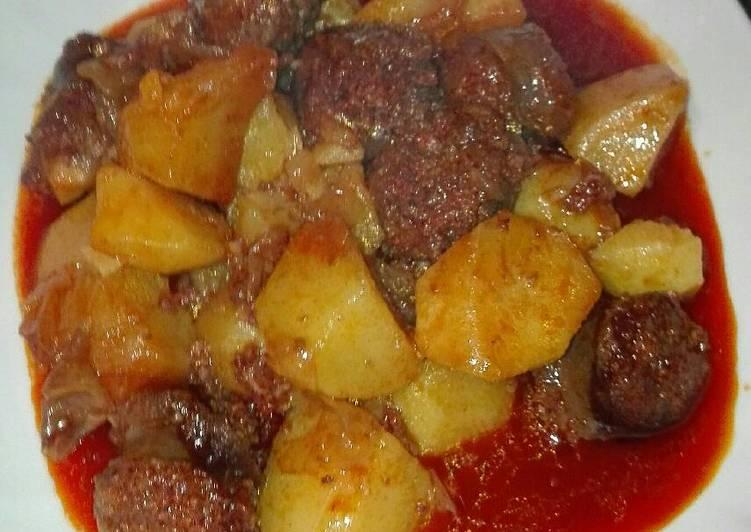 Patatas Al Estilo Riojano Con Chorizo De Jabalí En La Olla Gm G Receta De Mari Ramos Cookpad