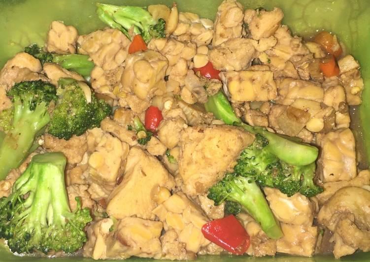 Oseng/Tumisan Diet — Ayam, Brokoli, Jamur, Tempe (Non MSG)