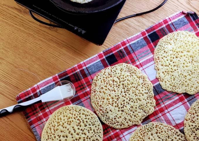 Baghrir ou crêpes mille trous recette inratable