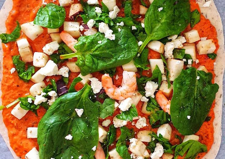 Recette: Délicieux Pizza aubergine épinards et thon