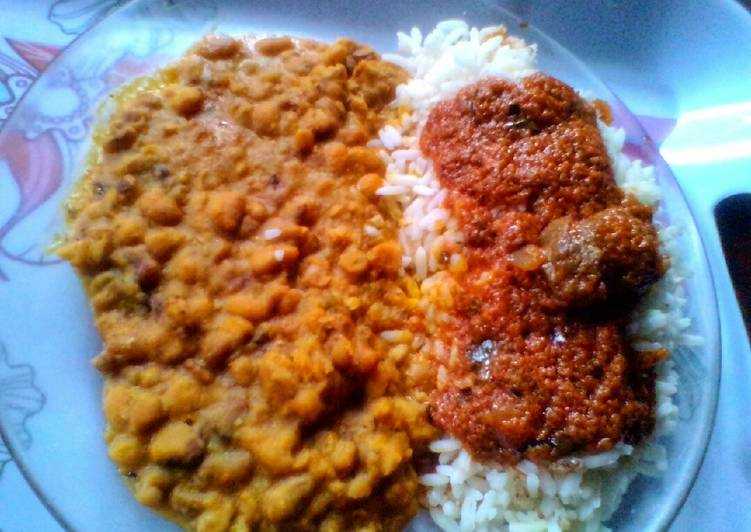 Ocean Porridge Beans and Curry Stew Rice Recipe by Ifeoma Obianagha - Cookpad