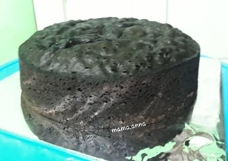 Brownies kukus 4 telur untuk base cake ♥