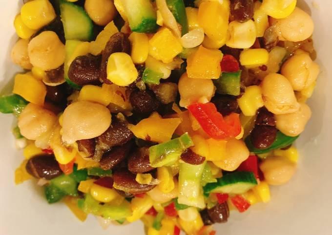 Black Bean & Chickpea Salad