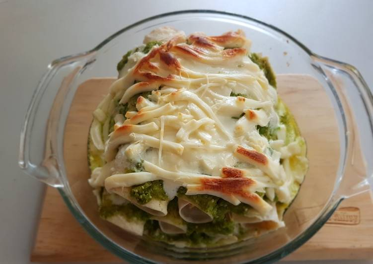 Enchiladas suizas horneadas