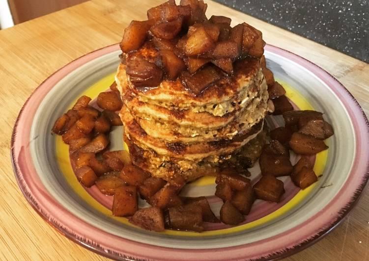 Healthy Pancakes con farina d avena e mele