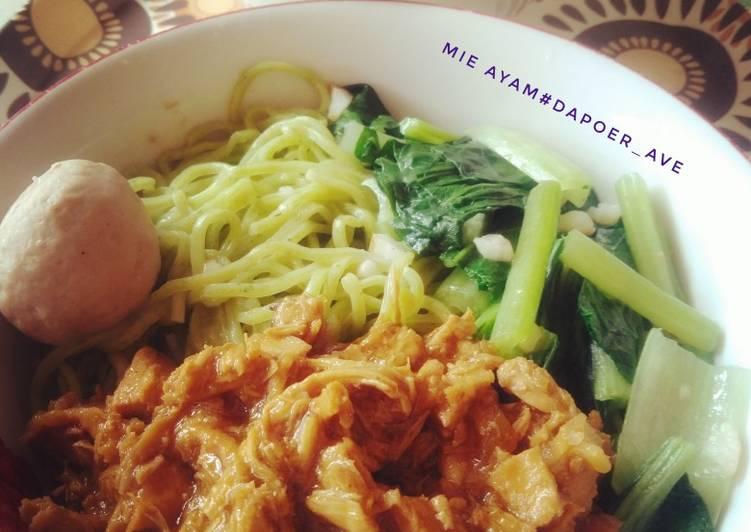 Resep Mie ayam untuk pemula