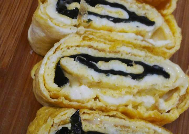 Tamagoyaki feat nori dan keju
