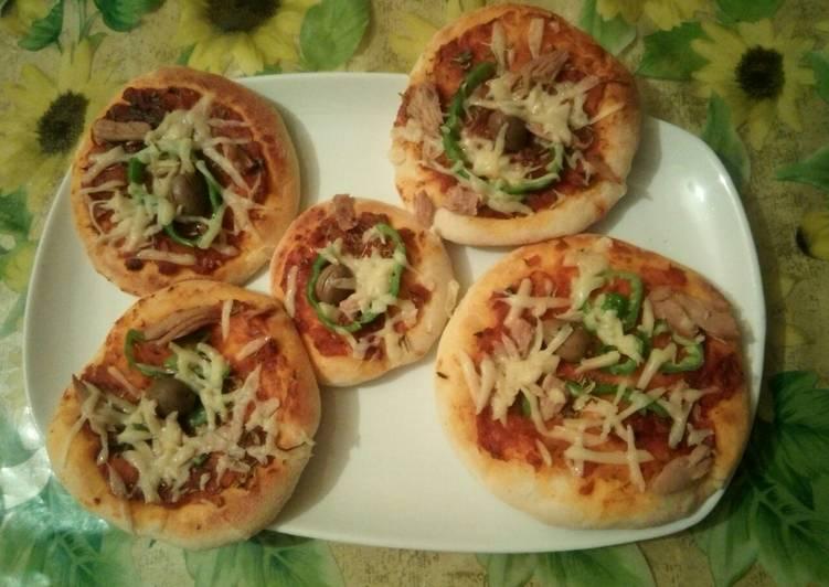 recette Mini pizza au thon 🇩🇿 délicieux