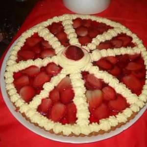 Tarta de gelatina y frutilla
