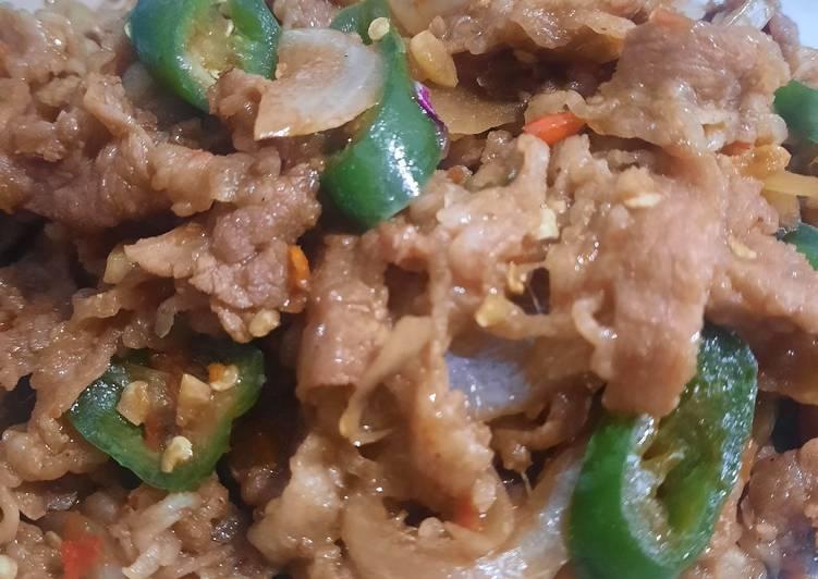 Daging slice saus teriyaki