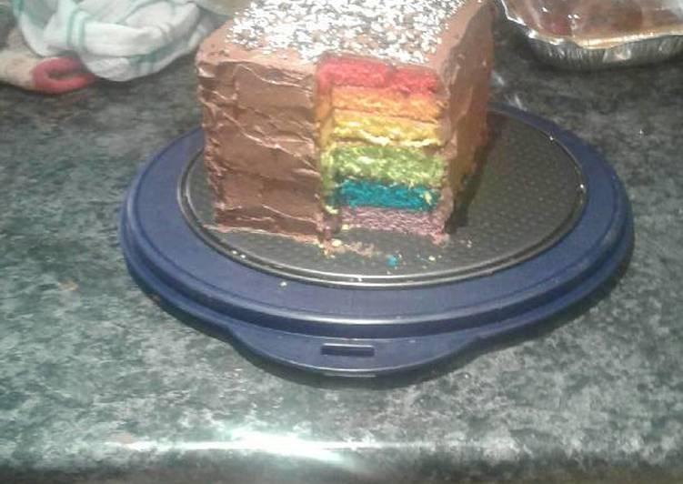 Recipe: Appetizing Amazing and Easy Rainbow Cake
