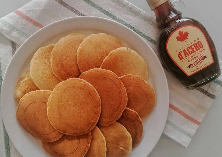 Pancake con esubero di lievito madre