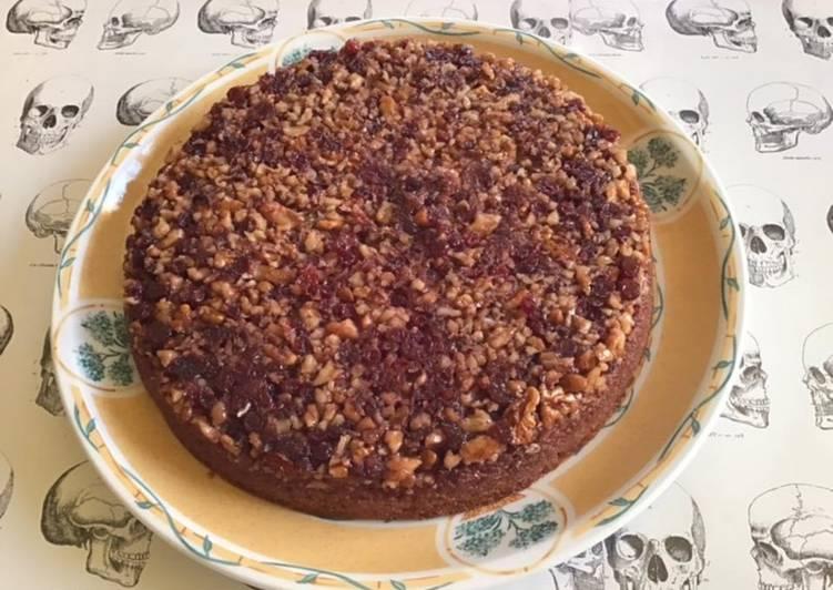 Recette Délicieux Gâteau renversé aux airelles et noix