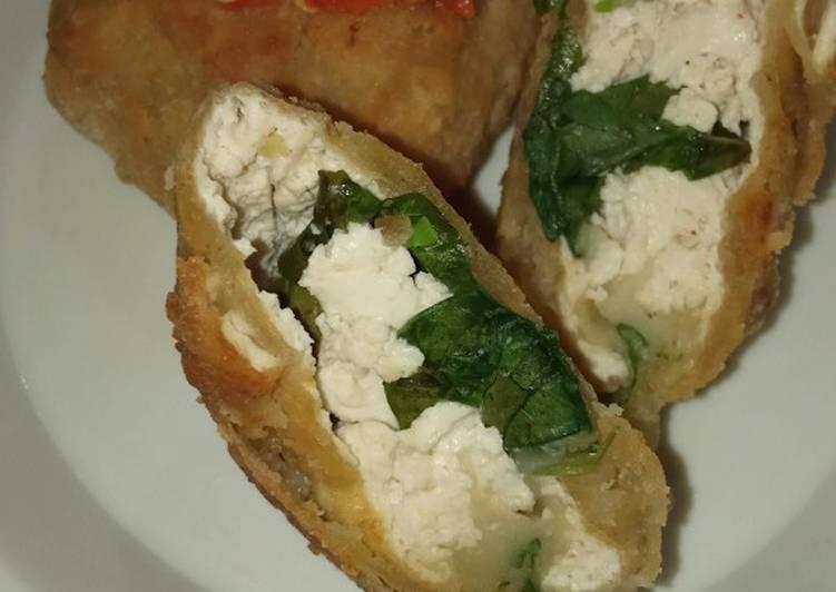 Tofu spinach krispi